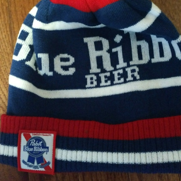 5161fca575f Brand new rare Pabst blue ribbon beer winter hat